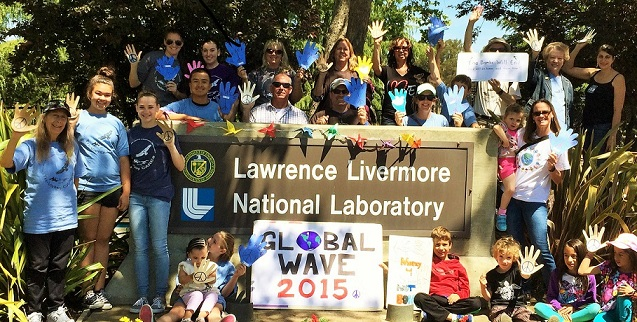 Wave goodbye to nuclear weapons outside Lawrence Livermore National Laboratory in the United States