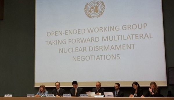 Michael Møller, Director-General of the UN in Geneva, addresses the OEWG