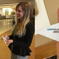 UNFOLD ZERO welcomes OEWG delegates with origami cranes