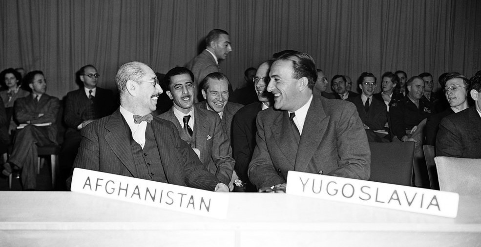 Delegates to the first session of the United Nations General Assembly, London, January 1946