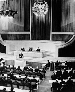 UNGA opening session in London, January 1946.