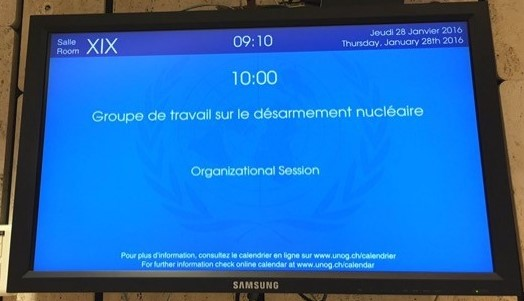 The informal session of the OEWG met in Room XIX at the Palais des Nations