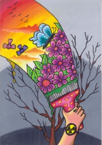 UN Art for Peace 2012 winning painting by Galuh Edelweiss, 8 years old from Indonesia