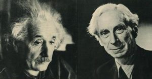 Albert Einstein and Bertrand Russel