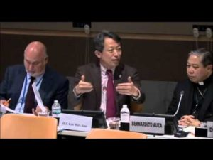 Kim Won-soo speaking at the Moral Compass event at the UN