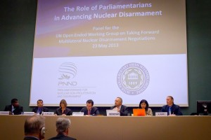 OEWG session on the role of parliamentarians. PNND Co-Presidents Sue Miller (UK) and Saber Chowdhury (Bangladesh) are keynote speakers