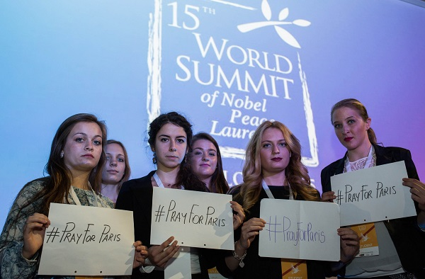 Youth participants in the Nobel Peace Summit