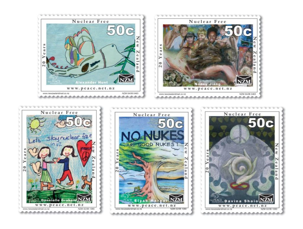 Winners of a Schools Peace Week art competition had their designs turned into postage stamps by New Zealand Post