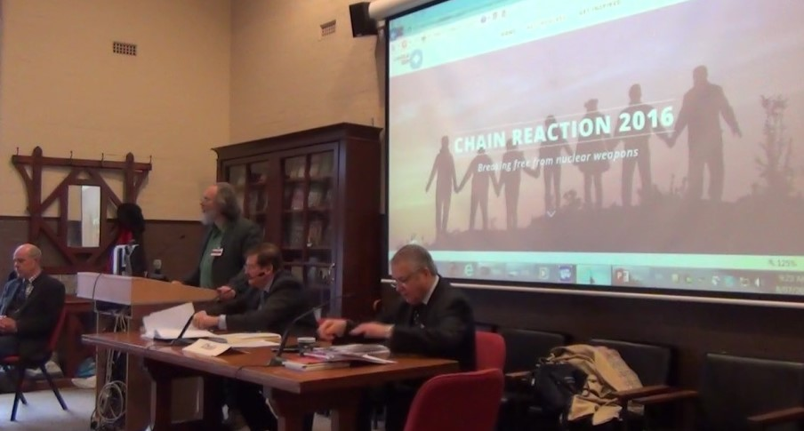 Launch of Chain reaction 2016 at the Peoples' Tribunal in Sydney, Australia